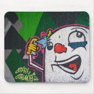 White Clown Mouse Pad