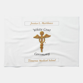 White Coat Ceremony Gold Medical, Pillow, Towel