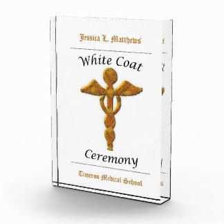 White Coat Ceremony Gold Medical, Vertical Award