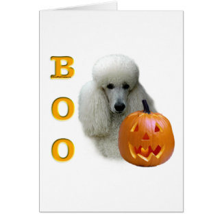 White Coated Poodle Boo Greeting Card
