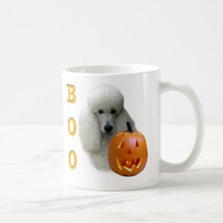 White Coated Poodle Boo Coffee Mugs