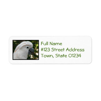 White Cockatoo Return Address Labels
