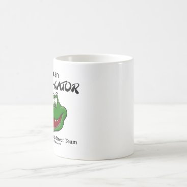 Coffee Themed White Coffee Cup with Street Team Logo
