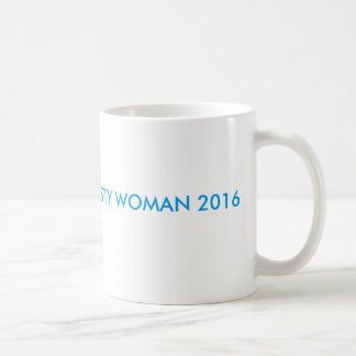 WHITE COFFEE MUG WITH AZURE FONT: NASTY WOMAN 2016