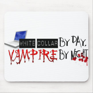 white collar by day, vampire by night mouse pad