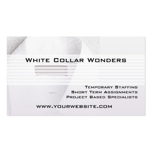 White Collar Employment Agency Business Card