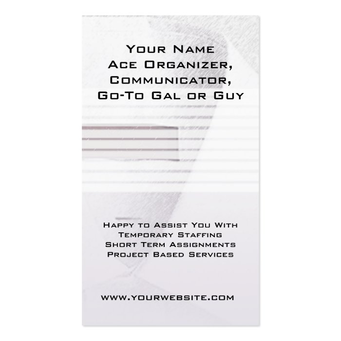 business cards for job seekers