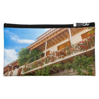 White Colonial Balcony Makeup Bag
