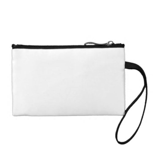 White Color Key Coin Clutch