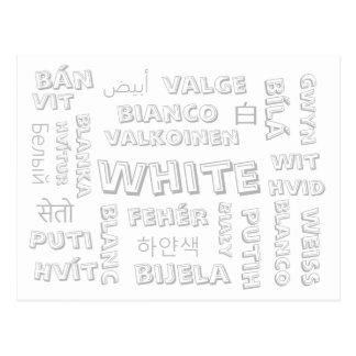White - Color Languages on Postcards