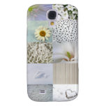 White Color Photograph Collage Samsung Galaxy S4 Cover