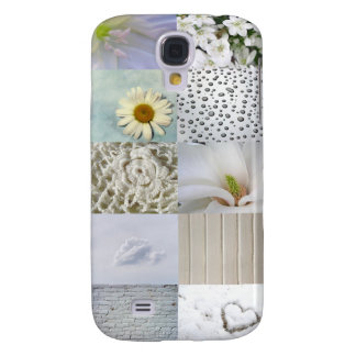White Color Photograph Collage Samsung Galaxy S4 Case