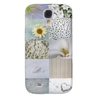 White Color Photograph Collage Samsung S4 Case