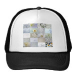 White Color Photograph Collage Trucker Hat