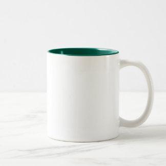 White Color Two Tone Hunter Green Two-Tone Coffee Mug