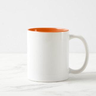 White Color Two Tone Orange Two-Tone Coffee Mug