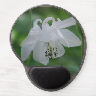 White Columbine Gel Mouse Mat