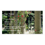 White Columns and roses - Parc Monceau, France flo Double-Sided Standard Business Cards (Pack Of 100)