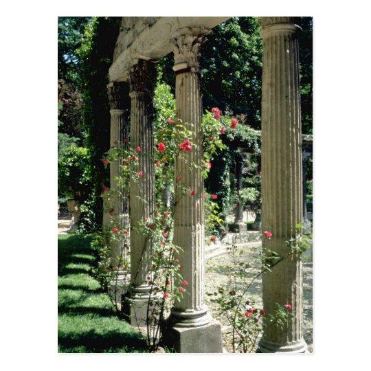 White Columns and roses - Parc Monceau, France flo Postcard