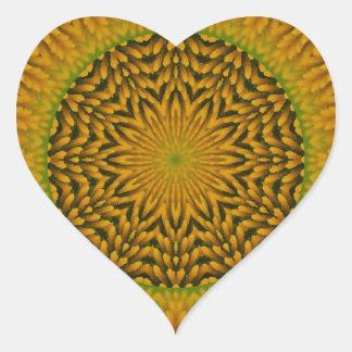 White Coneflower Mandala Image 14 Heart Sticker