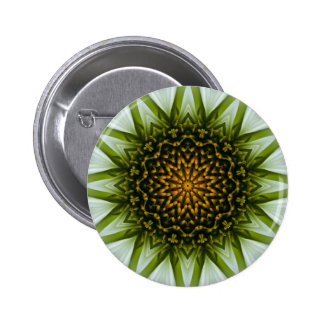 White Coneflower Mandala Image 7 Button
