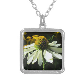 White coneflower  necklace