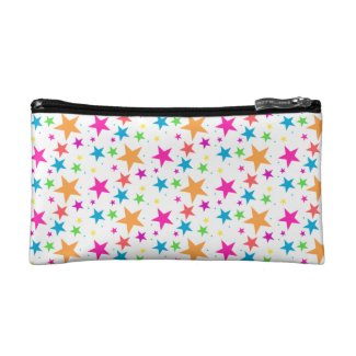 White Confetti Multi Makeup Bag