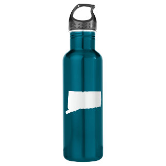 White Connecticut Stainless Steel Water Bottle