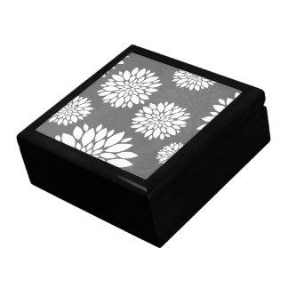 White Contemporary Flowers Keepsake Box