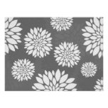 White Contemporary Flowers Poster