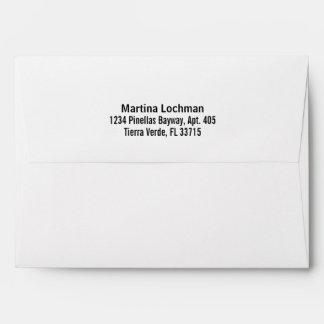 White Convenient Pre-Addressed Envelope