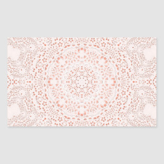 White Coral Lace Fabric Image Background Rectangle Stickers
