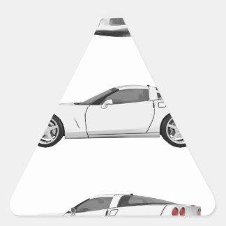 White Corvette: Triangle Sticker