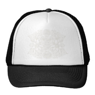 White Cosmic Floral Explosion Hats