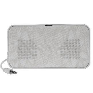 White Cosmic Floral Explosion Notebook Speaker