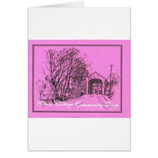 White Cottage Community Days Card