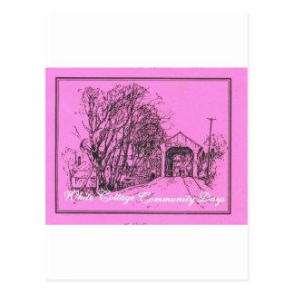 White Cottage Community Days Postcard
