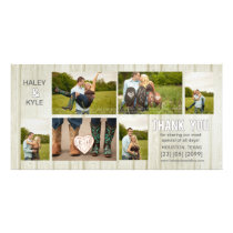 White Country Wedding Thank You Photo Cards