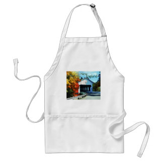 White Covered Bridge  Colorful Autumn New England. Aprons