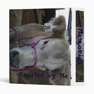 White Cow Head Shot at County Fair Binder