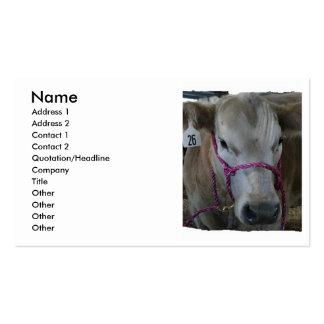 White Cow Head Shot at County Fair Business Card