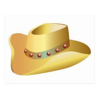 White Cowboy Hat Postcard