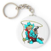 White Cowboy RoapA Keychain