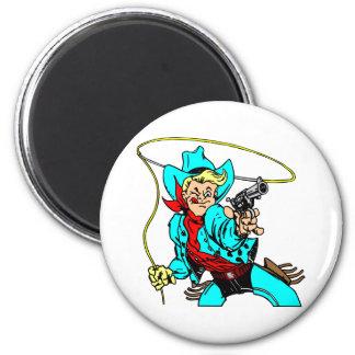 White Cowboy RoapA Magnet