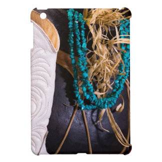 White Cowgirl Boot Western Cowboy Pot Turquoise Case For The iPad Mini