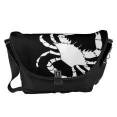 White Crab Messenger Bag at Zazzle