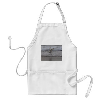 White Crane Adult Apron