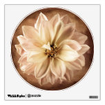 White, Cream, Brown Dahlia Background Customized Wall Decals