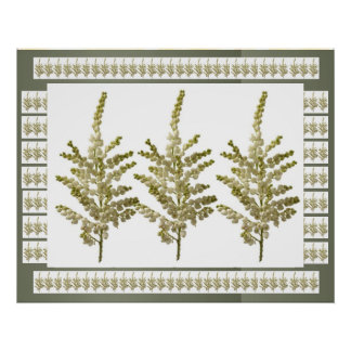 WHITE Cream : LILY LILLY Flower Collection Poster