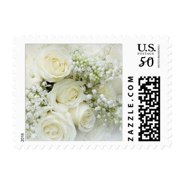 Toddler & Baby themed White cream roses, Baby's breath flowers Postage